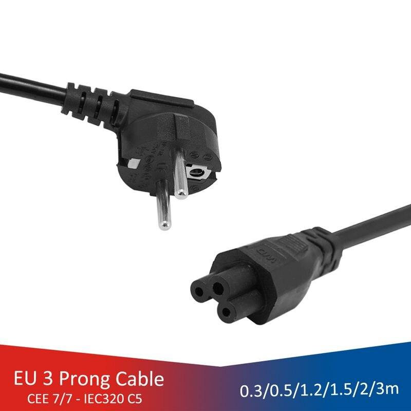 Cables de energía de portátiles, Cable de alimentación de conectores IEC C5,...