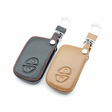 Top Layer Leather Key Fob Case Cover For Lexus IS250 ES240 ES350 RX270 RX350 2 Buttons Remote Contro