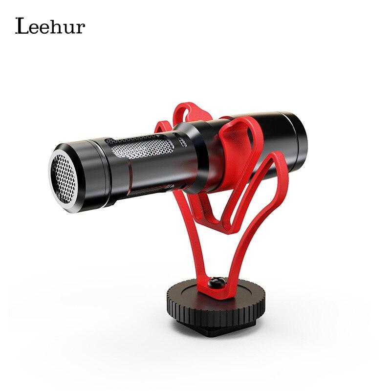 Leehur профессиональный микрофон для записи видео запись камера микрофон для Youtube Vlog прямая трансляция музыка