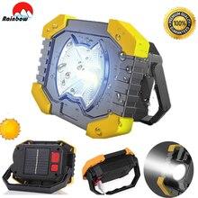 100W projecteur solaire Portable 8000lm 180 degrés lanternes réglables batterie intégrée Camping lumière lampe de poche Rechargeable