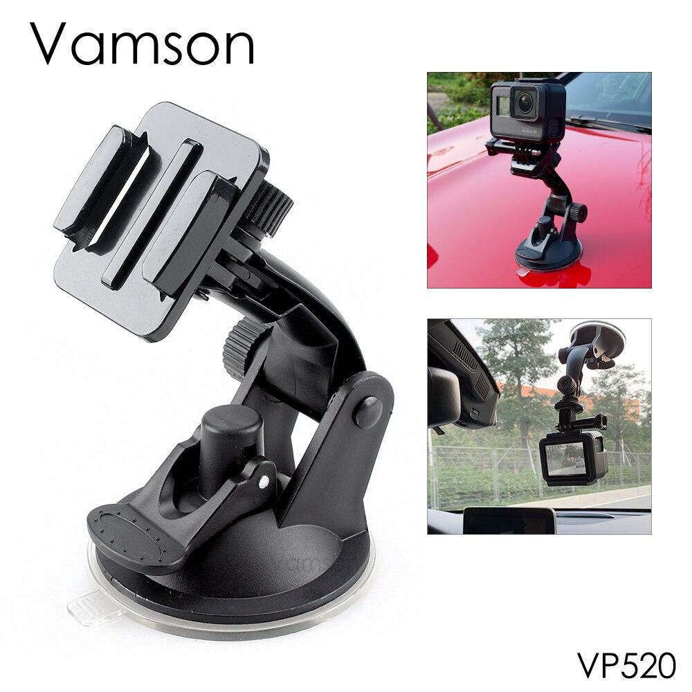 Vamson для Go Pro 8, аксессуары 7 см, крепление на лобовое стекло автомобиля, присоска для Gopro Hero 8 7 6 5 4 для SJCAM для Xiaomi для Yi VP520