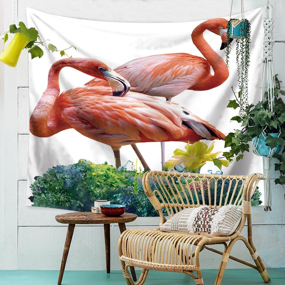 Гобелен с фламинго, настенные гобелены, гадания, настенная ткань, ведро, хиппи, украшение для спальни, Таро гобелен