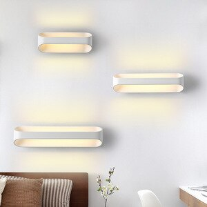 Nordic Minimalist Up and Down LED Wall Lamp Modern 15/25/35CM Aluminum Sconces Light Fixture for Indoor Bedroom Bedside Hallway