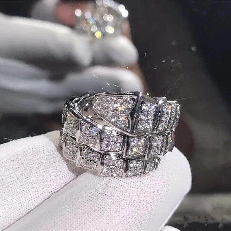 Женское-кольцо-в-виде-змеи-из-серебра-100-пробы-с-цирконом