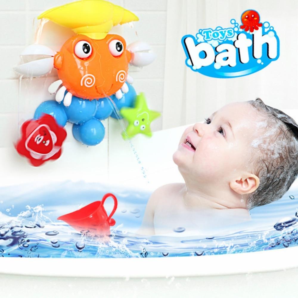 Verano Baby Shower baño Color lindo cangrejo baño juego agua combinación niños corredor juguete de bañera