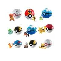 12 kinds ejectable pokeball pokemon figure model dolls toy pokemon pikachu anime model child birthday gift kawaii pikachu anime