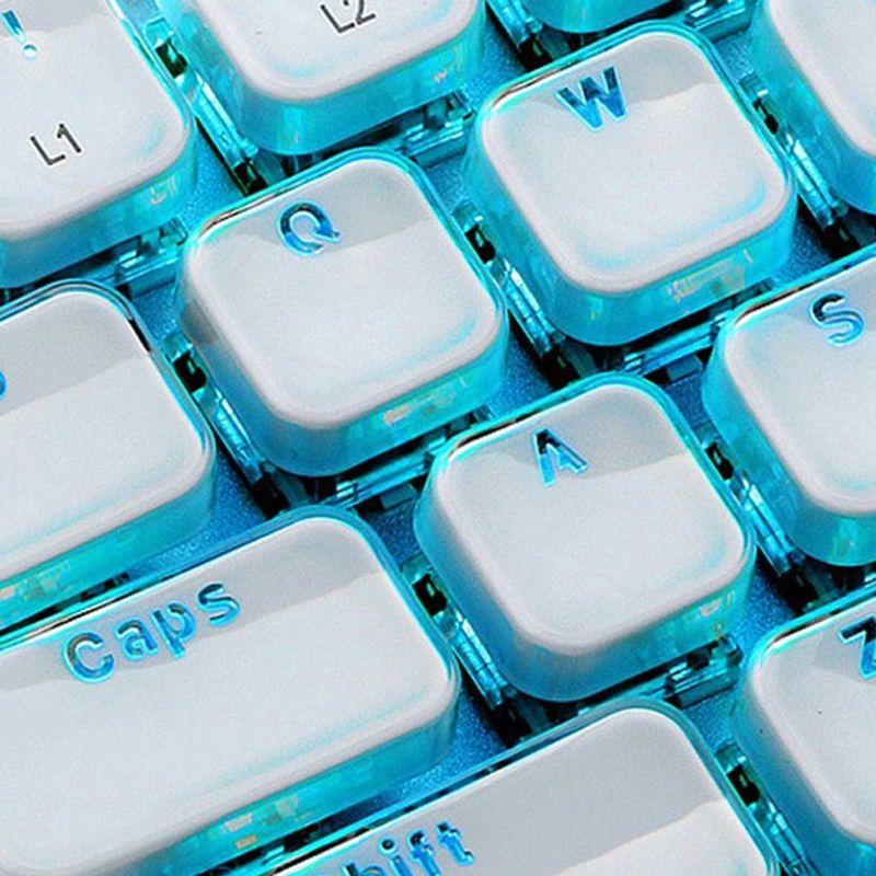 104 Keys Layout Low Profile Keycaps Backlit Crystal Edge for Mechanical Keyboard