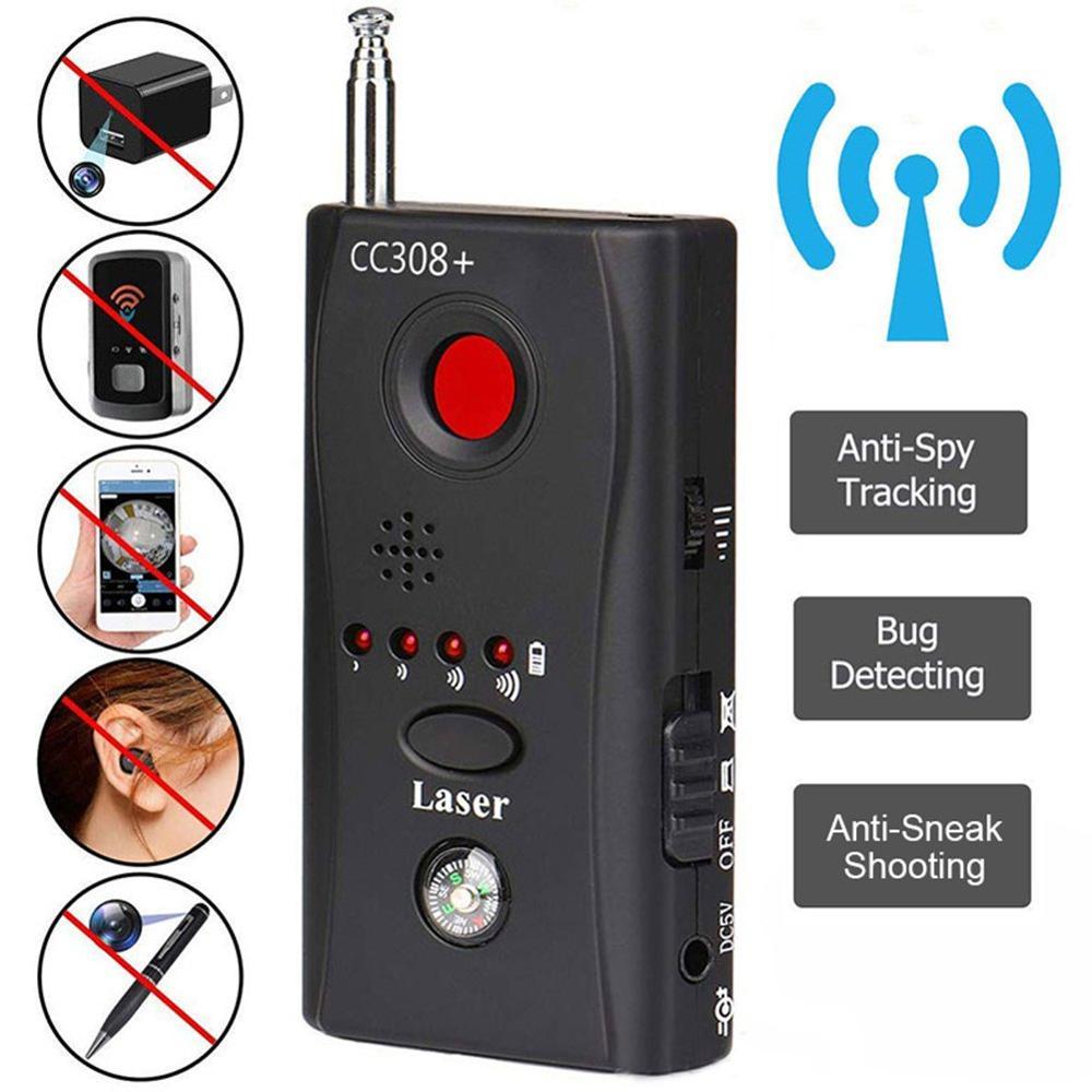 Anti-espía, lentes de cámara escondida, detector de agujeros, GSM GPS, medidor de señal RF tracker