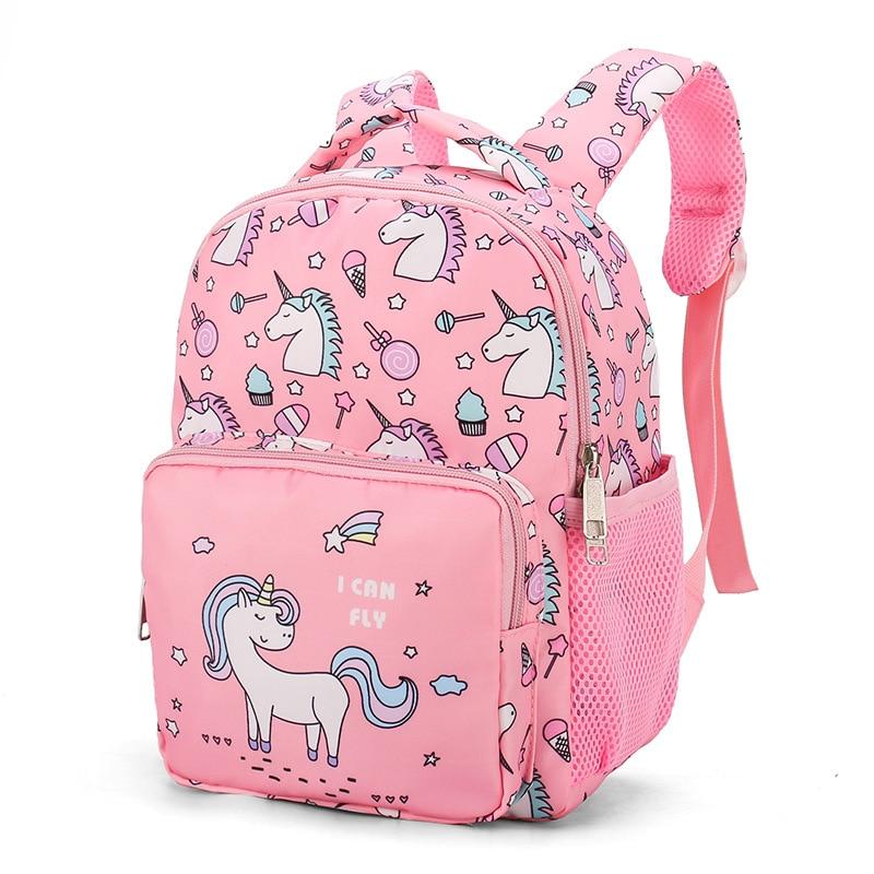 Girl School Bags Child Pink Purple Nylon Printing Backpack Kindergarten Student Cute Girls Children'