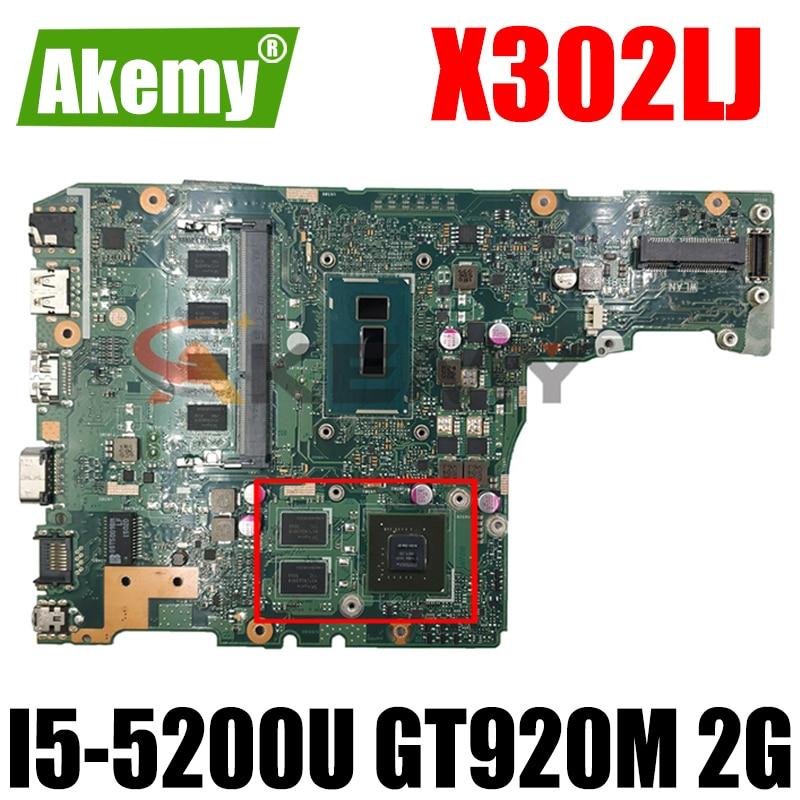 X302LJ MAIN_BD._ 4G/I5-5200U/AS V2G I5-5200U 4GB RAM GT920M 2G اللوحة الأم لاسوس X302L X302LA X302LJ اللوحة الرئيسية للكمبيوتر المحمول اختبار موافق