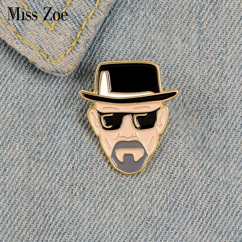 Br Ba esmalte Pin de película de papel de televisión broches para camisa de solapa mochila distintiva Punk película clásica Vintage joyería de regalo para amigos