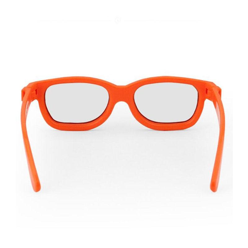 50pcs/Lot Orange CHILDREN 3D Glasses Linear Polarization 45/135 Degrees Linear Polarized 3D Glasses for Kids enlarge