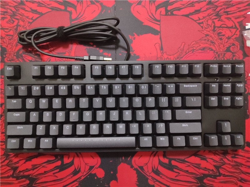 IKBC-لوحة مفاتيح ميكانيكية PBT C87 TKL للألعاب ، لوحة مفاتيح غير مضاءة للألعاب مع مفاتيح cherry mx باللون الفضي والبني والسرعة