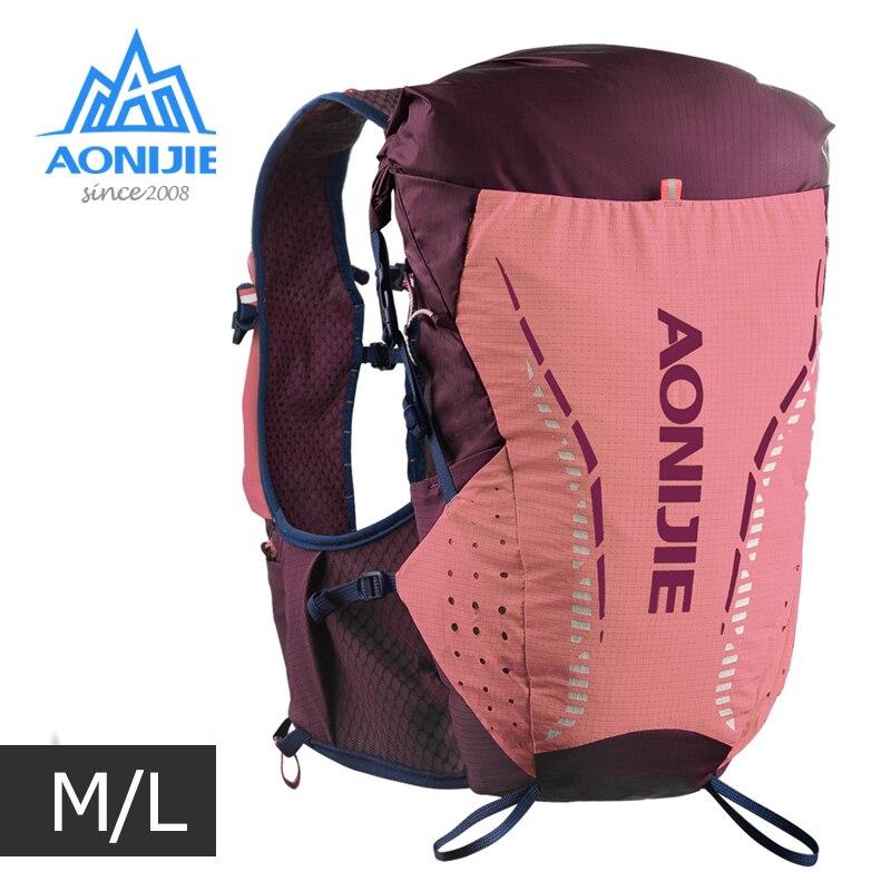 ML Size AONIJIE C9104 Outdoor Ultra Vest 18L Hydration Backpack Pack Bag Soft Water Bladder Flask Trail Running Marathon Race