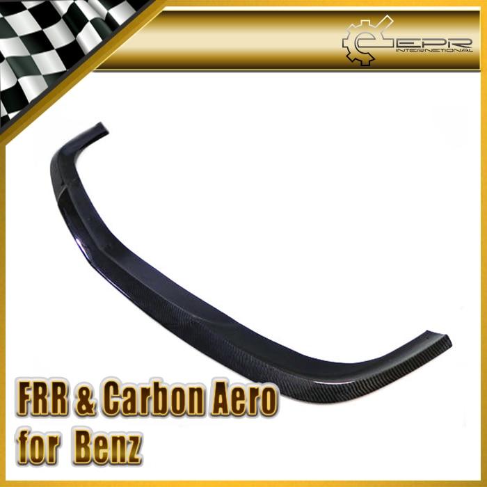 Diseño de coche para mercedes-benz clk-class CLK55 fibra de carbono frontal brillo de labios Fibre parachoques Splitter bajo Spoiler Body Kit Trim