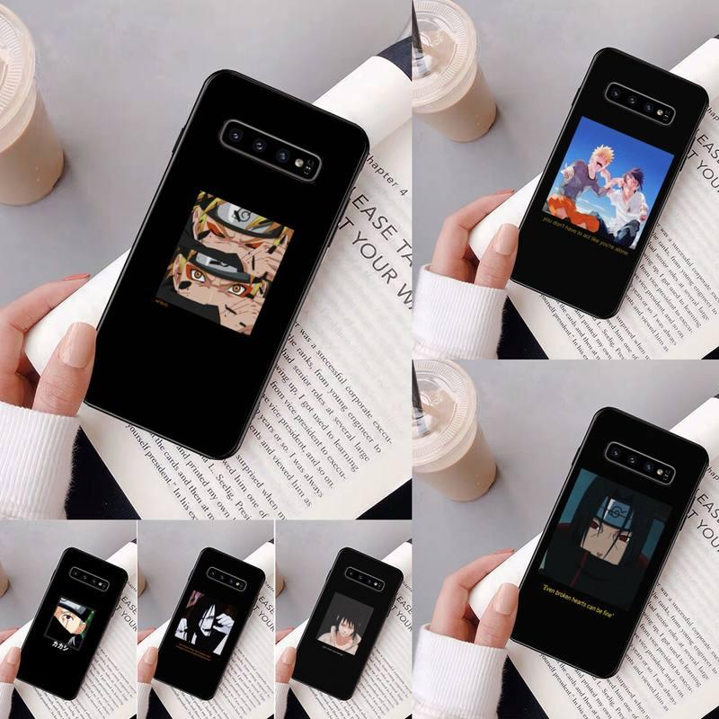 Yinuoda negro Naruto Anime teléfono caso para Samsung Galaxy A50 A30 A71 A40 S10E A60 A50s A30s Nota 8 9 S10 más S10 S20 S8