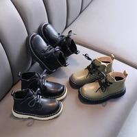 autumn children genuine leather short boots student martin boots children shoes