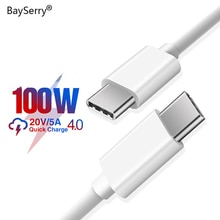 BaySerry 100W USB Type C To Type C Cable For Tablet Laptop PD Charger USB C Cable Quick Charge 4.0 F