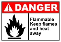 flammable keep flames and heat away danger oshaansi label vinyl decal sticker kit osha safety label compliance signs 8