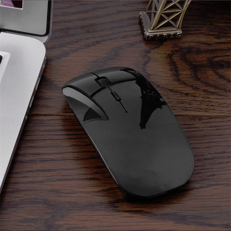 Ratón inalámbrico Portátil con Bluetooth 3,0, recargable, para videojuegos, ordenador portátil, tabletas PC, ordenador ajustable, VML-09 de ratón de 1200 DPI