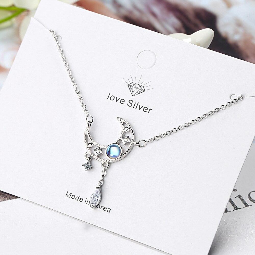 Женское-ожерелье-из-серебра-925-пробы-с-подвеской-в-виде-звезды-и-Луны