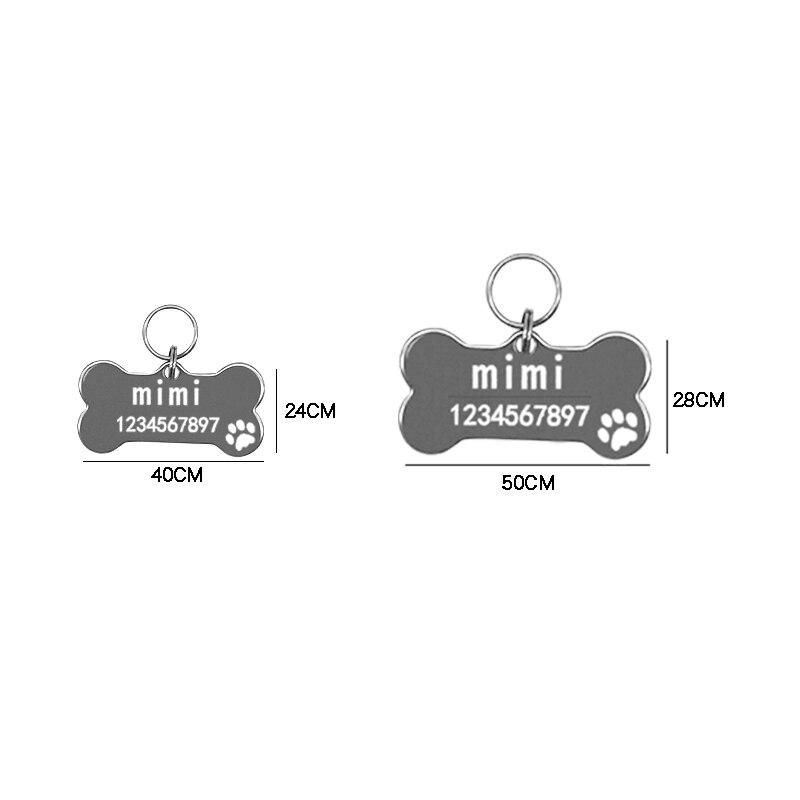 Etiqueta de identificación de acero inoxidable para perro, si compras cualquier producto...
