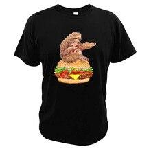 Gehen Nirgendwo T Hemd Hamburger Sloth Hungrig Junk Food Langsam Leben Lustige Tier EU Größe Faul Mashup Weiche Tops