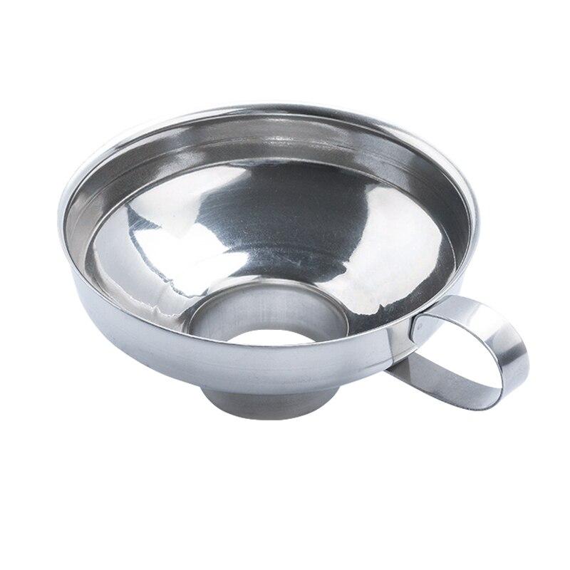 Горячая Высокое качество нержавеющей стали широкий рот Воронка для фасоли варенья пищевой порошок Кухонные гаджеты D6