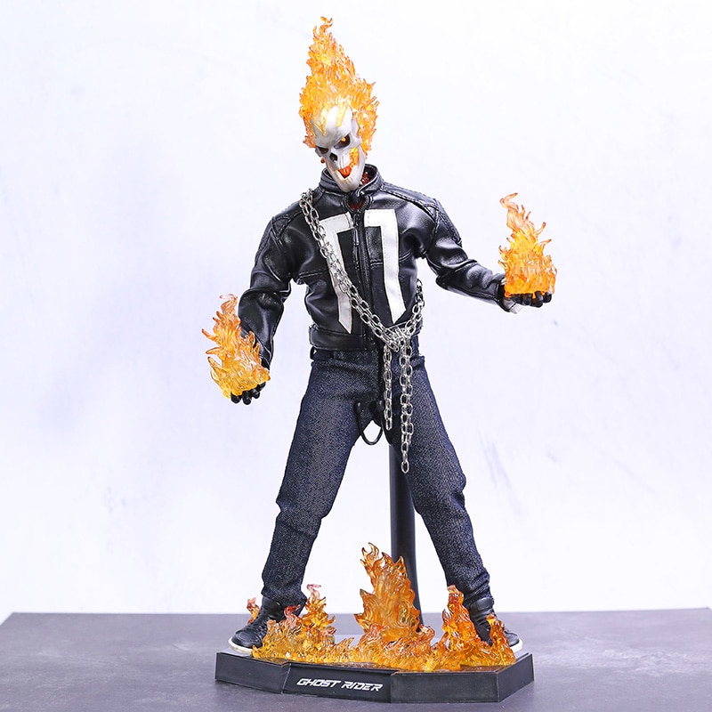 Marvel SHIELD, piloto fantasma, figura de acción de PVC, modelo de juguete con luz LED