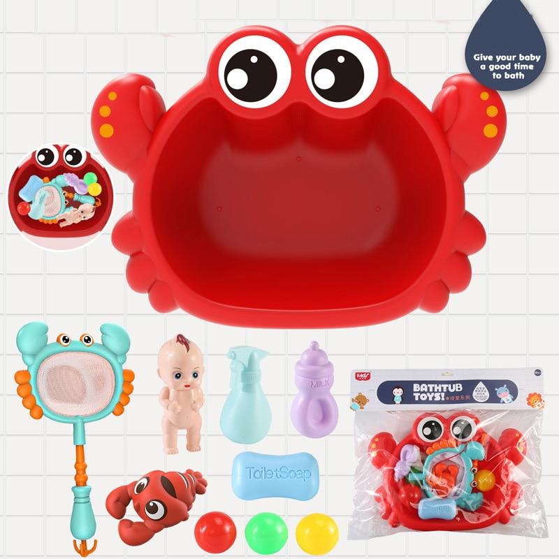 6 шт., набор игрушек для рыбалки в ванной комнате