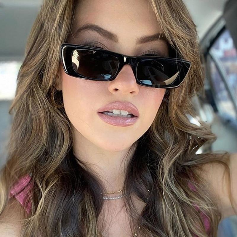 2021 New Fashion Small Rectangle Sunglasses Women Vintage Brand Designer Square Sun Glasses Shades Female UV400 Eyewear