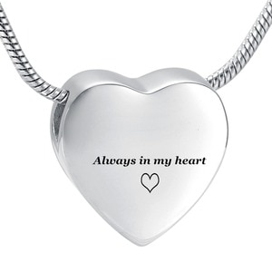 LKJ9952 In Stock! Human Cremation Jewelry with Screw Hold Loved One's Ashes Keepsake Urn Necklace Stainless Steel Jewellery