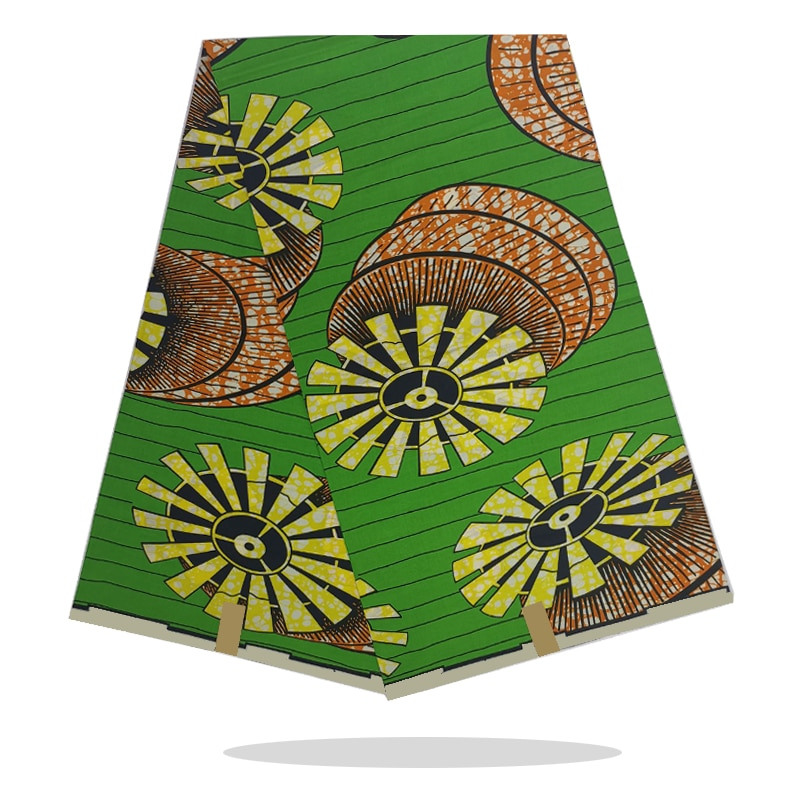 African Wax Printed Cotton Fabric 100%Soft High Quality Nigerian Style Wax Prints Fabric 6 Yards For Wedding Dress SP18-89