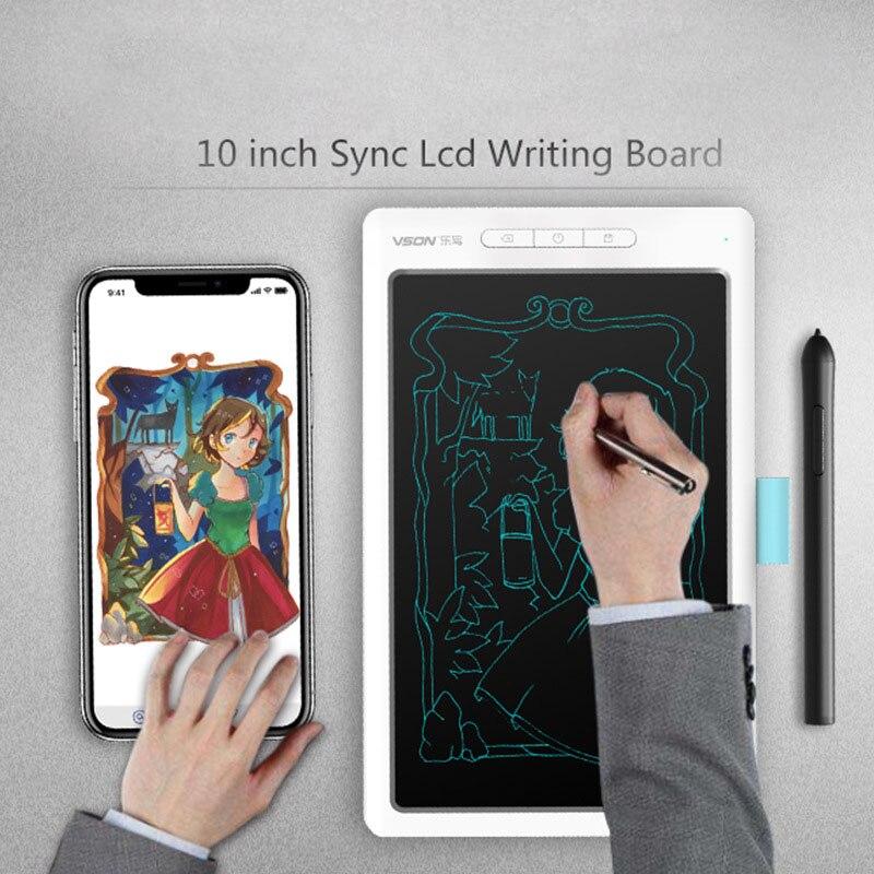 Tableta de escritura LCD portátil de 10 pulgadas Digital dibujo electrónico escritura a mano Bluetooth conexión teléfono móvil tablero ultrafino