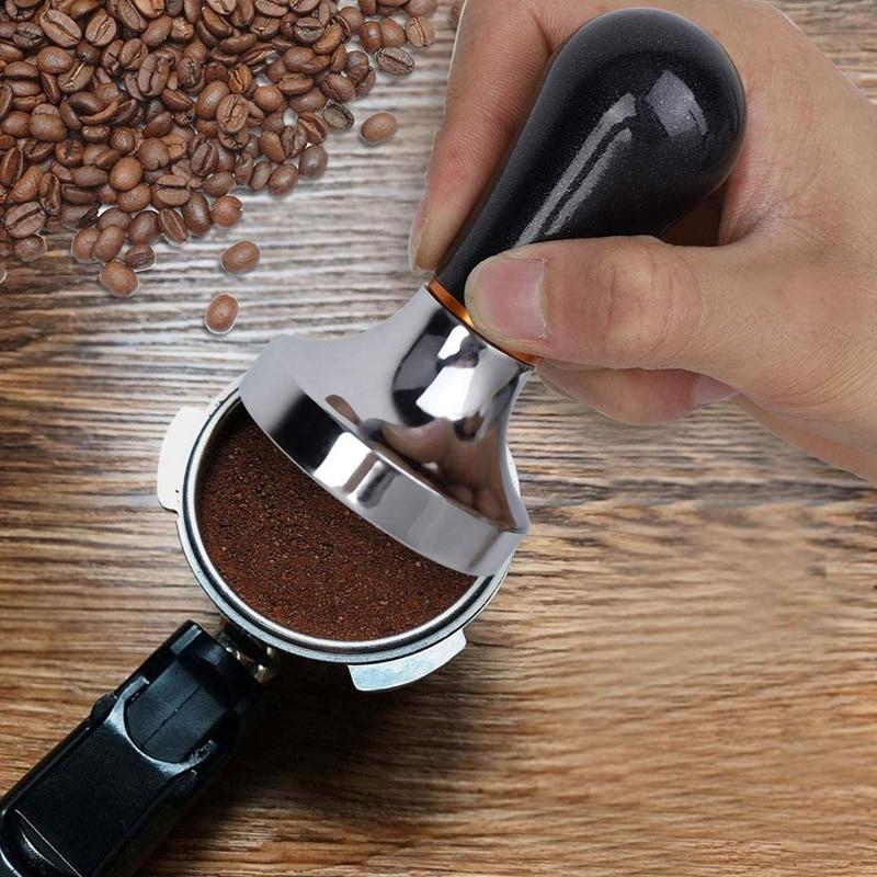 2 حزمة سدادة قهوة العملي يده سدادة قهوة الألومنيوم مع مقبض لصانع القهوة الأسود 57.5 مللي متر