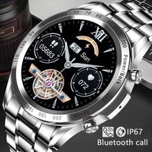 LIGE 2021 New Steel Band Business Smart Watch Men IP67 Waterproof Bluetooth Call Smartwatch 1.3-inch