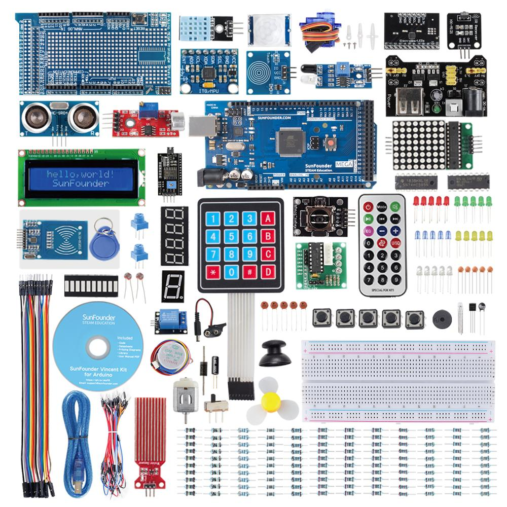 SunFounder Mega2560 R3 Project The Most Complete Starter Kit Compatible with Arduino Mega 2560 R3 Mega328 Nano, Mega2560 Board a