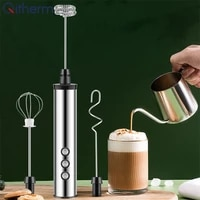 3 speeds electric blender milk frother usb rechargeable food mixer handheld bubble maker whisk electric egg beater blender