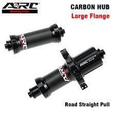 ARC Carbon Road Hub Bicycle Hub Straight Pull Front 100mm Rear 130mm 6 Pawls 72 Clicks NBK Bearing Hub Shimano 8 9 10 11 Speed