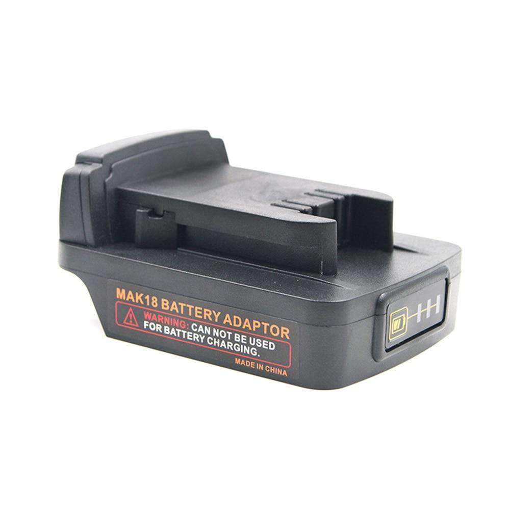 Adaptador de batería convierte para MAKITA 18V BL1840 BL1850B BL1860B BL serie Li-ion a para Milwaukee M18 18V Li-ion