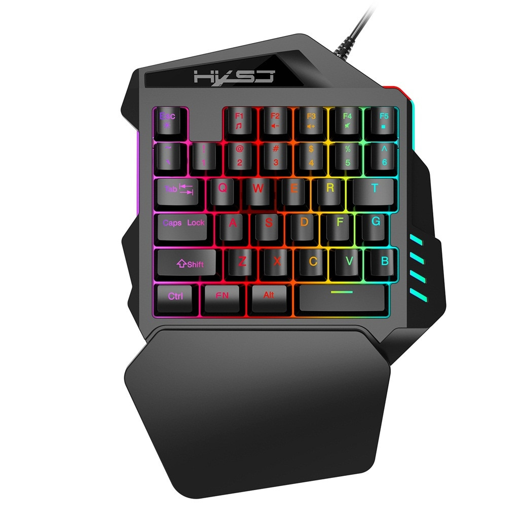 V100 Mini FN + ESC przycisk podświetlenie LED jedną ręką 35 klawiszy klawiatura mechaniczna podświetlenie LED kolor dla Windows dla Linux USB 2.0