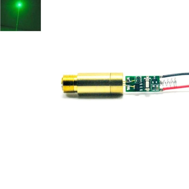 532 нм 50 мВт зеленый лазер диод точка модуль 3,7 В 12 мм диаметр с латунью корпус