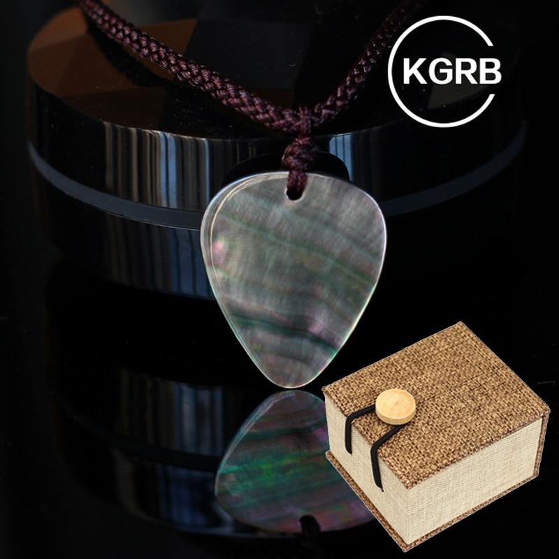 KGRB Abalone Guitar Plectrums Picks Shell Guitar Finger Plectrums for Acoustic Electric Guitar Accessories