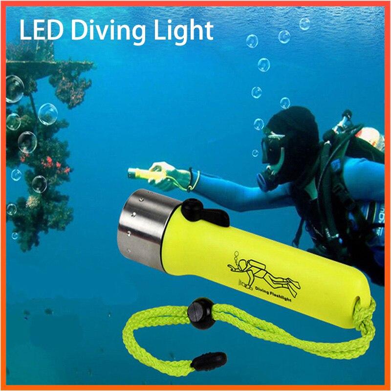 Linterna de buceo Super brillante 2000LM Q5 impermeable Flash submarino buceo profundo snorkel equipo de luz de buceo LED