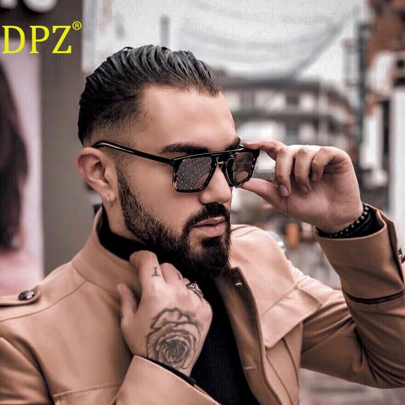 New 2020 DPZ retro trend big frame ladies sunglasses brand design men's box outdoor driving sunglass