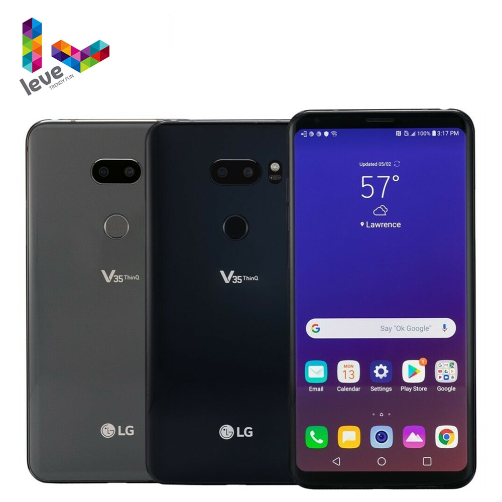 Смартфон LG V35 ThinQ V350N V350AWM, разблокированный мобильный телефон, экран 6,0 дюйма,
