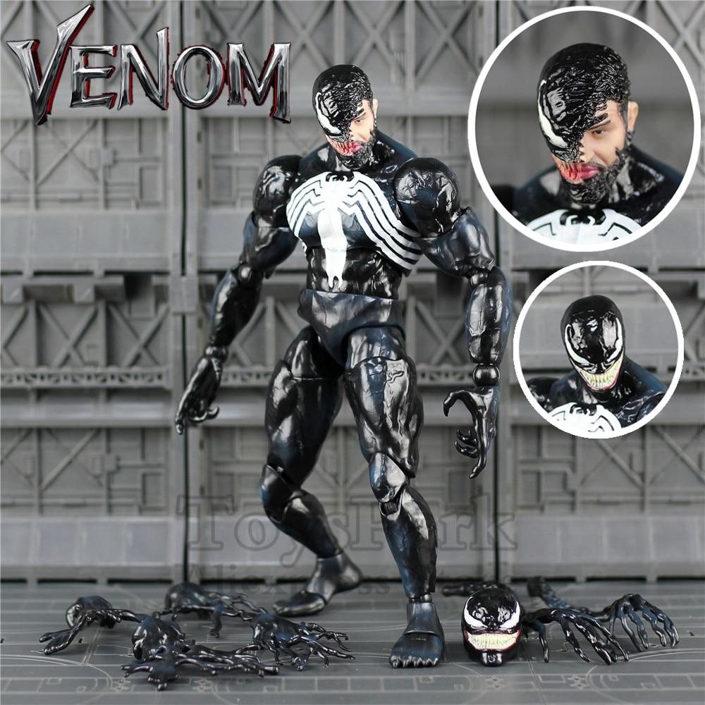 "2018 Marvel 12"" Venom Action Figure Hot Tom Hardy Edward Brock Legends 1/6 1:6 26cm HC Toys Doll Movie Collectible Spider man"