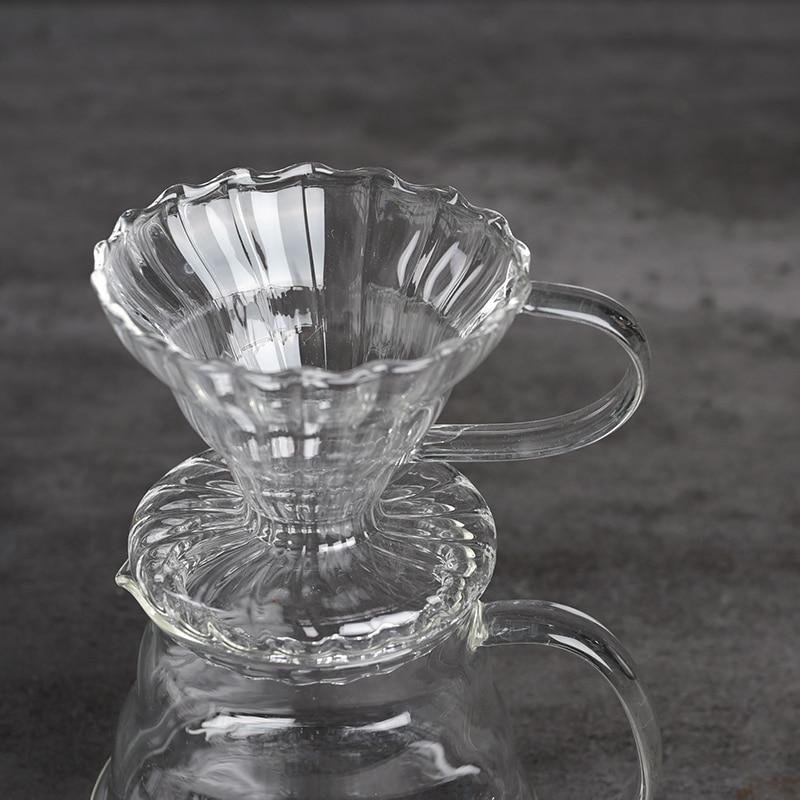 Juego de Filtro de café V60, herramientas reutilizables hechas a mano, gotero...