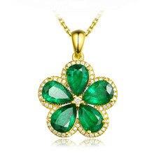قلادة مرصعة بالأحجار الكريمة من الكريستال الأخضر الزهري للسيدات 18k مجوهرات ذهبية اللون هدايا عيد الميلاد بيجو