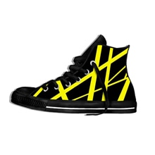 EVH 5150 STRIPES Music Rock Fashion Lightweight High Top Canvas Shoes Men Women Casual Breathable Sn
